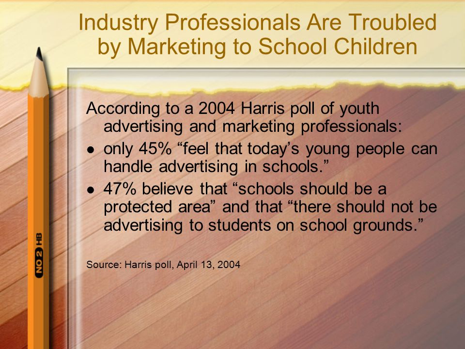 Industry Professionals Are Troubled by Marketing to School Children