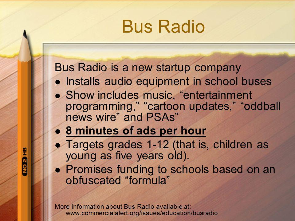 Bus Radio Bus Radio is a new startup company