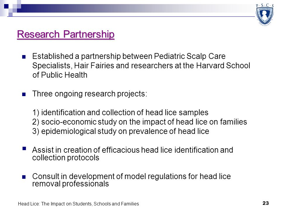 Head Lice: The Impact on Students, Schools and Families