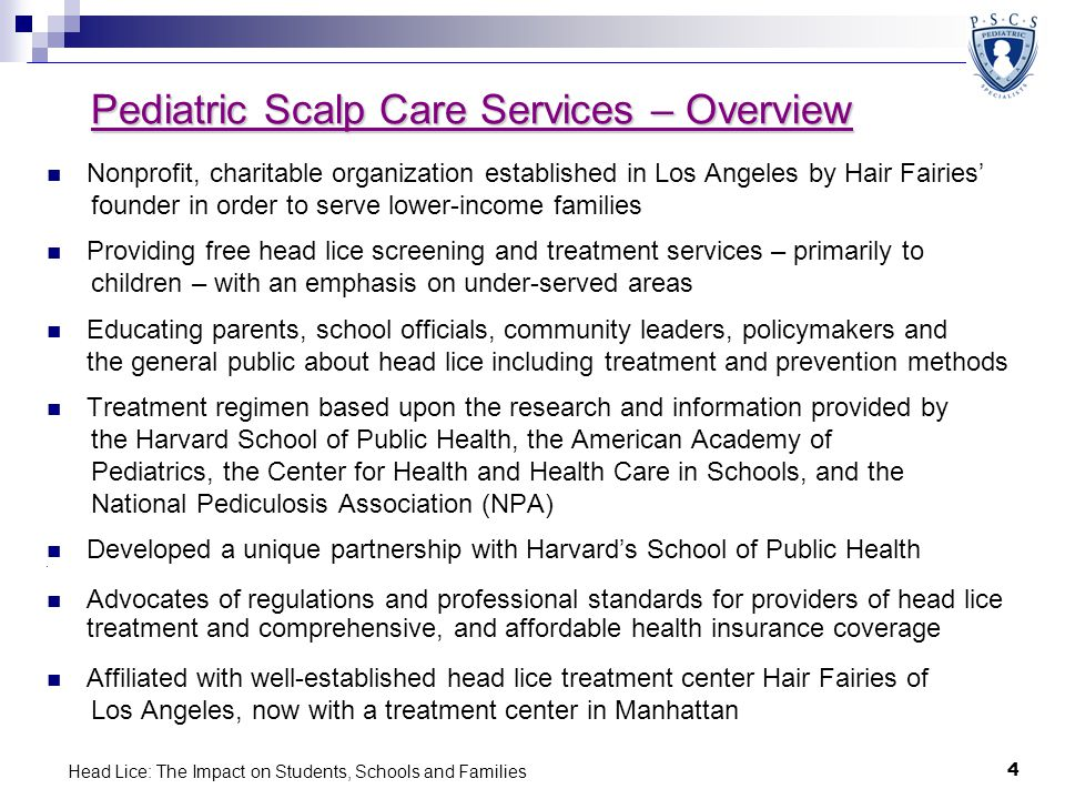 Pediatric Scalp Care Services – Overview