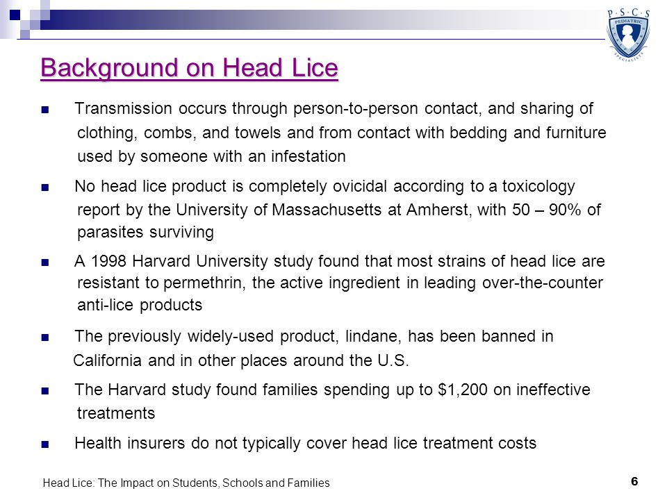Background on Head Lice