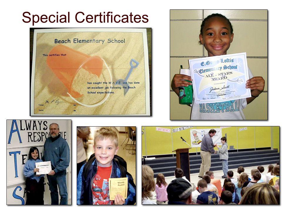 Special Certificates