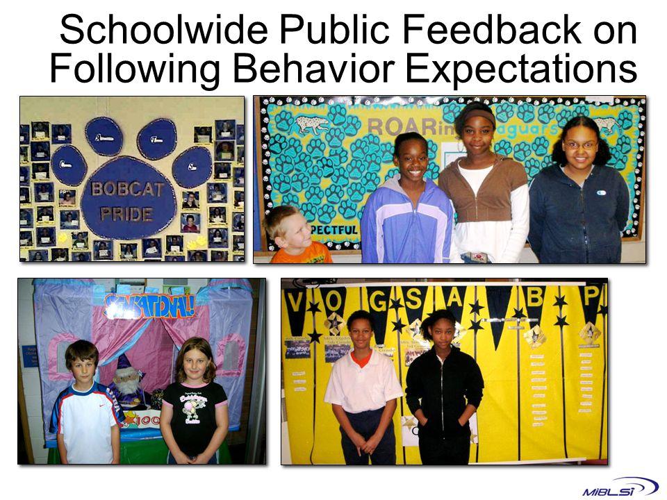Schoolwide Public Feedback on Following Behavior Expectations