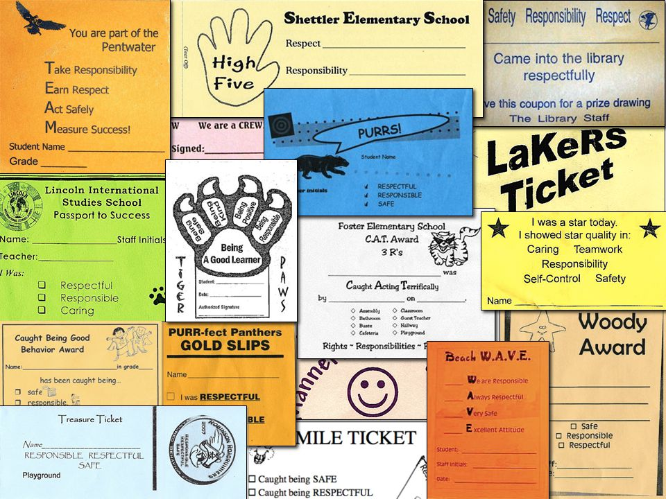 Schoolwide quick acknowledgements Rewards that are quickly presented in the presence of the behavior