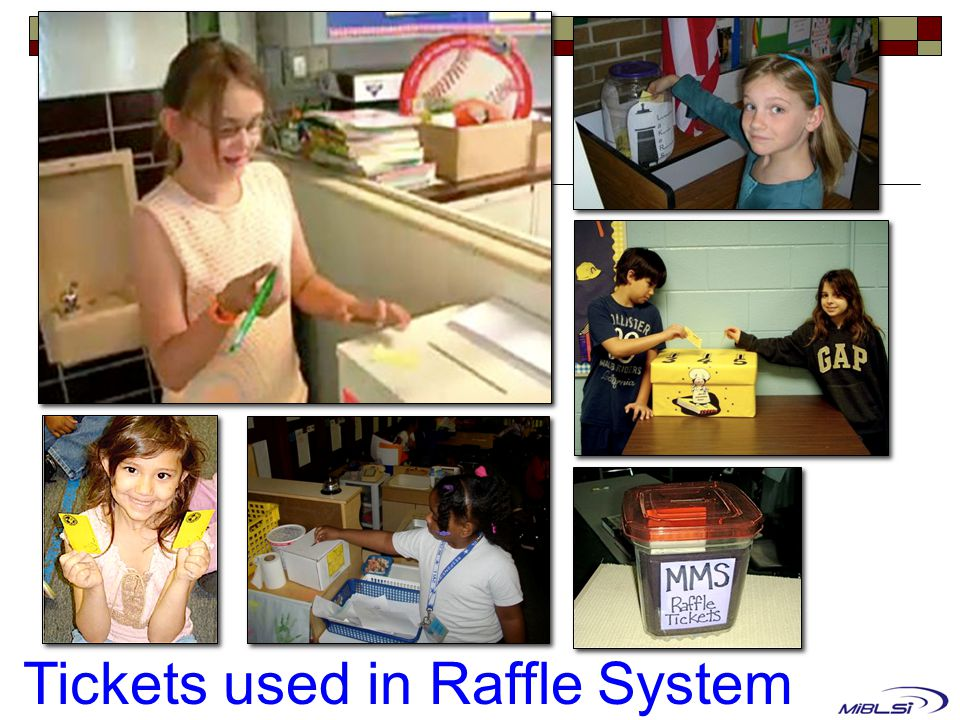 Tickets used in Raffle System