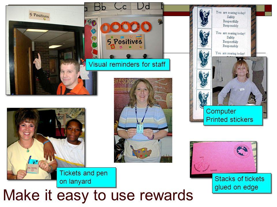 Make it easy to use rewards