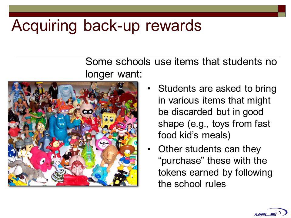 Acquiring back-up rewards