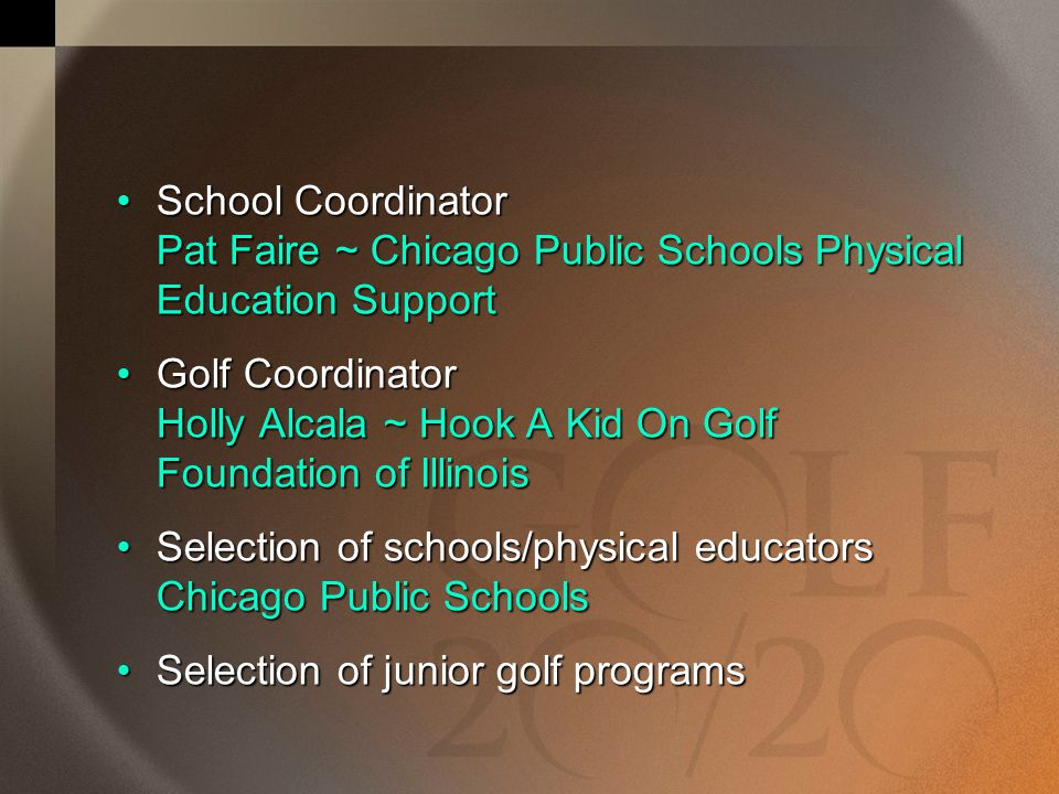 School Coordinator Pat Faire ~ Chicago Public Schools Physical Education Support