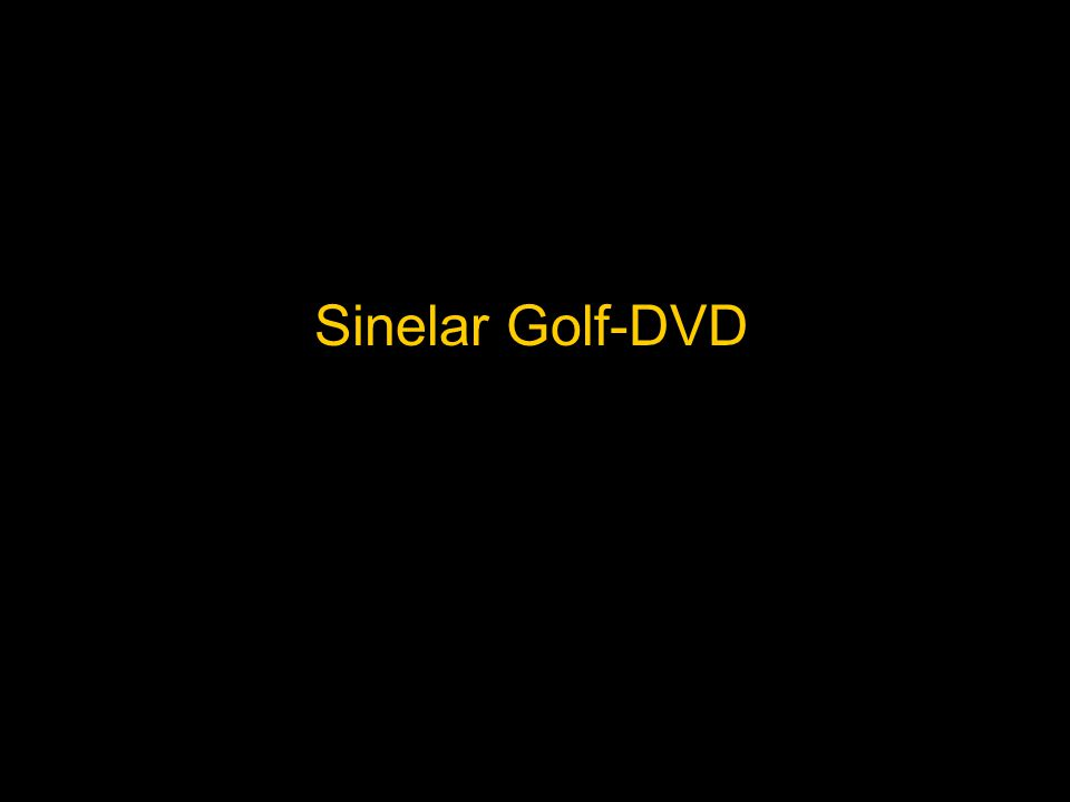 Sinelar Golf-DVD