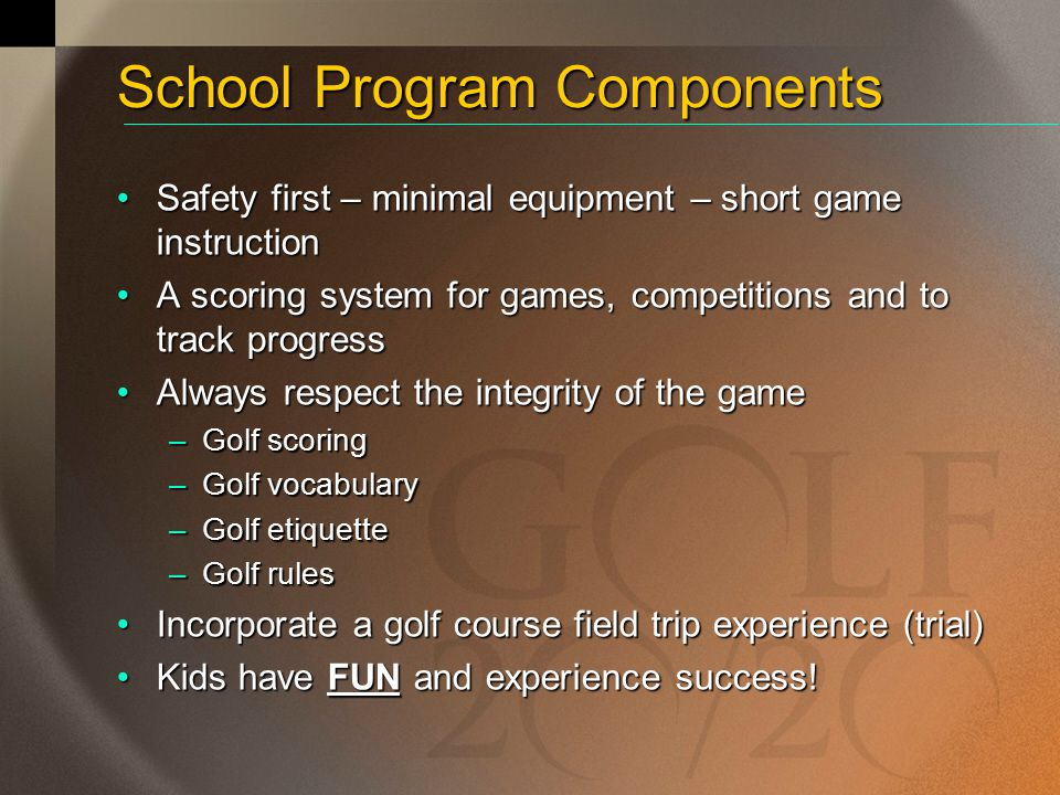 School Program Components