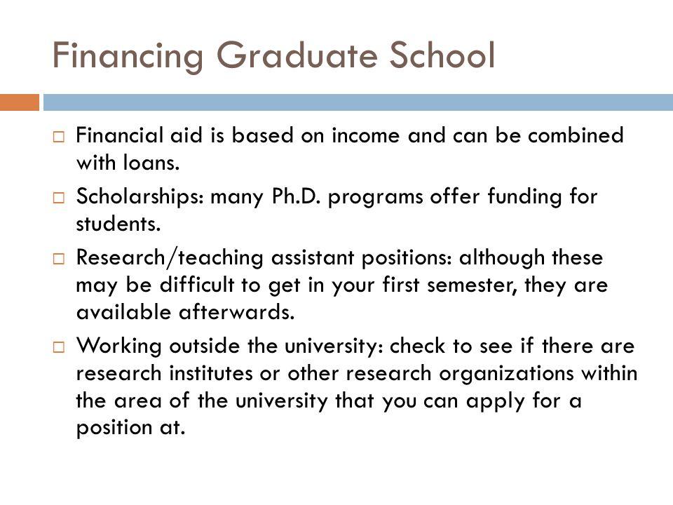 Financing Graduate School