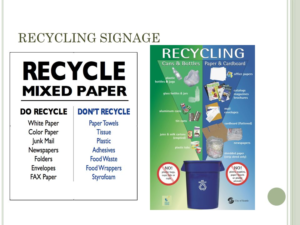 RECYCLING SIGNAGE