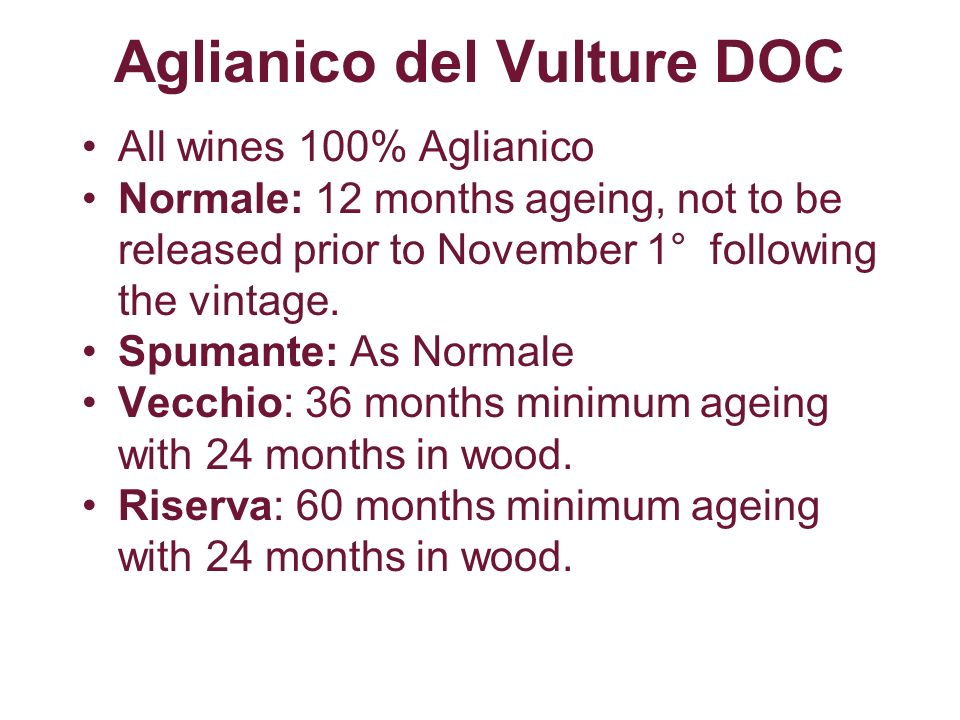 Aglianico del Vulture DOC