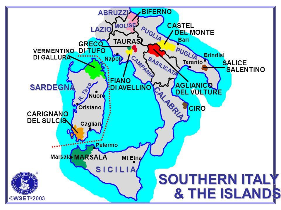 SOUTHERN ITALY & THE ISLANDS SARDEGNA CALABRIA S I C I L I A ABRUZZI