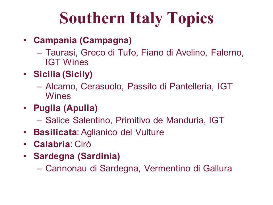Southern Italy Topics Campania (Campagna)