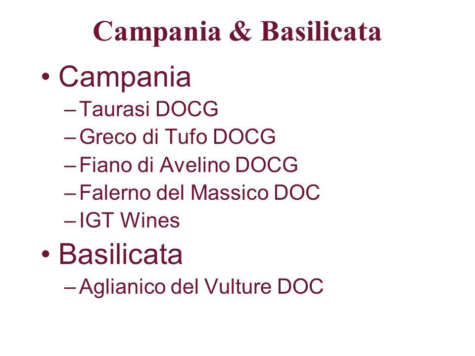 Campania & Basilicata Campania Basilicata Taurasi DOCG