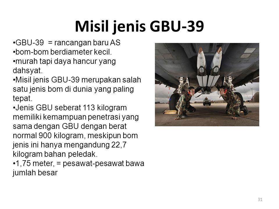 Misil jenis GBU-39 GBU-39 = rancangan baru AS