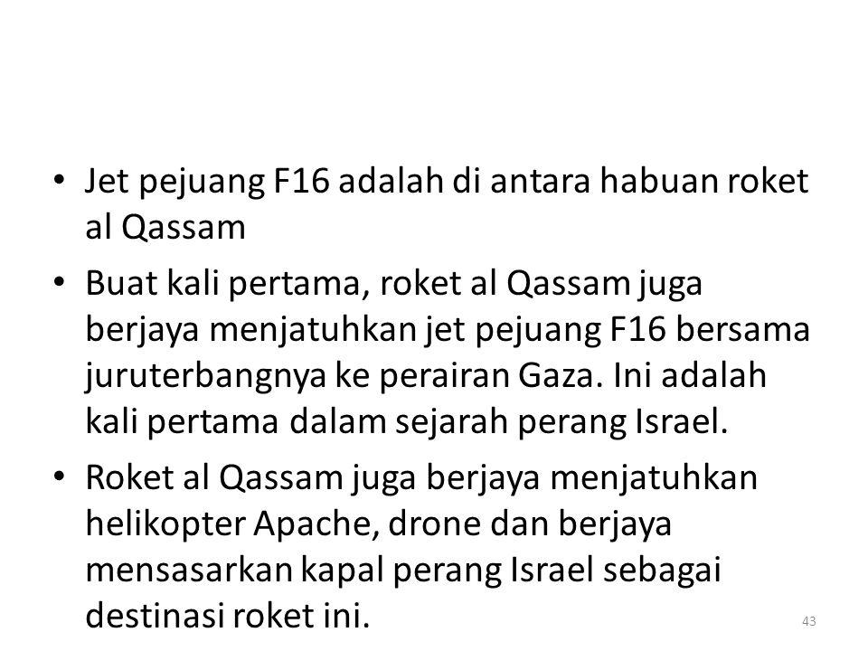 Jet pejuang F16 adalah di antara habuan roket al Qassam