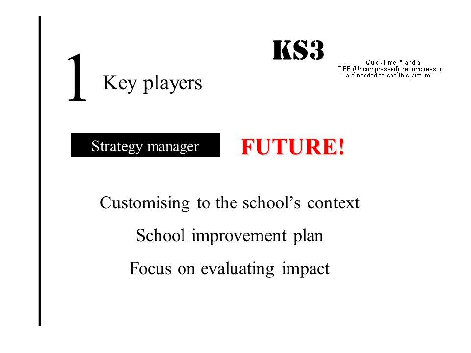 1 KS3 IMPACT! FUTURE! Key players Customising to the school's context
