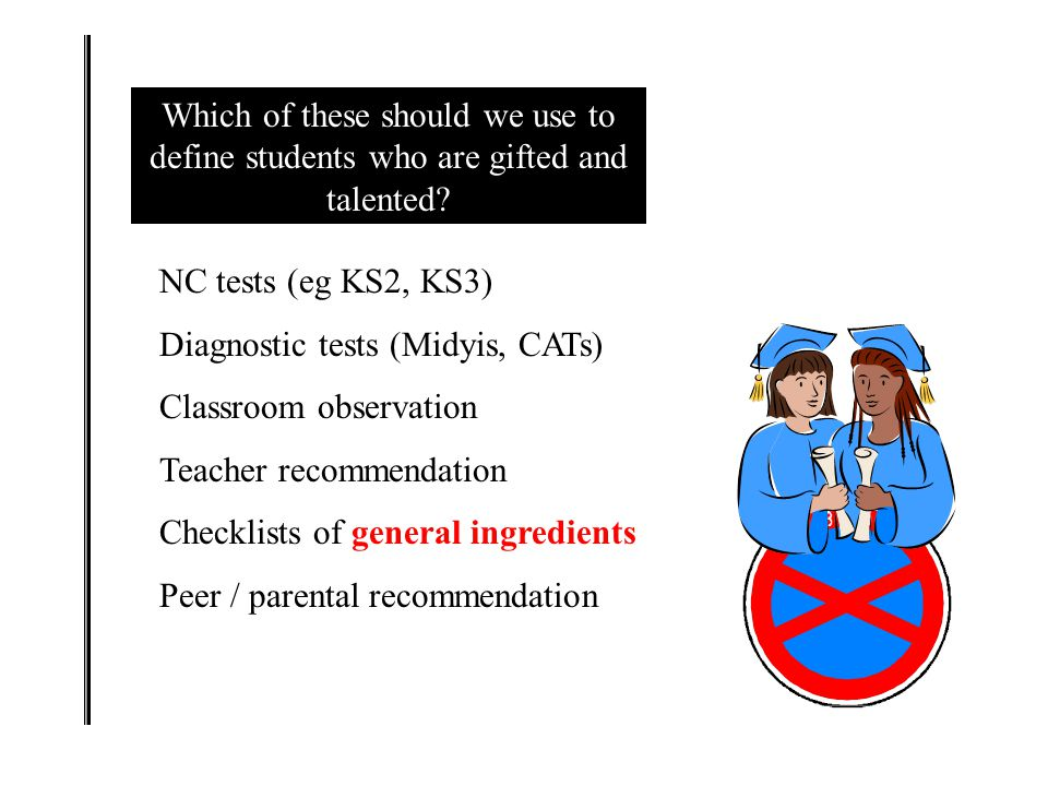 Which of these should we use to define students who are gifted and talented