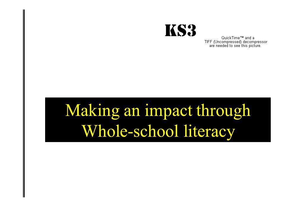 Making an impact through Whole-school literacy