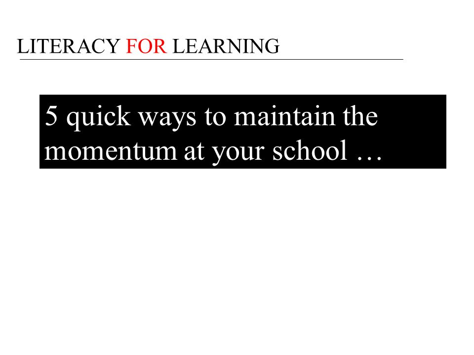 5 quick ways to maintain the momentum at your school …