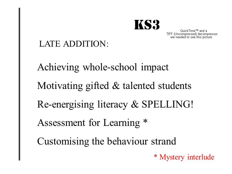 KS3 IMPACT! Achieving whole-school impact