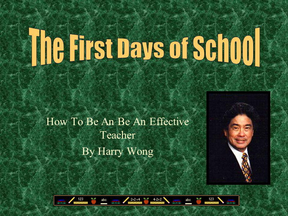 Terrific How To Be An Be An Effective Teacher By Harry Wong Ppt Download Hairstyles For Women Draintrainus