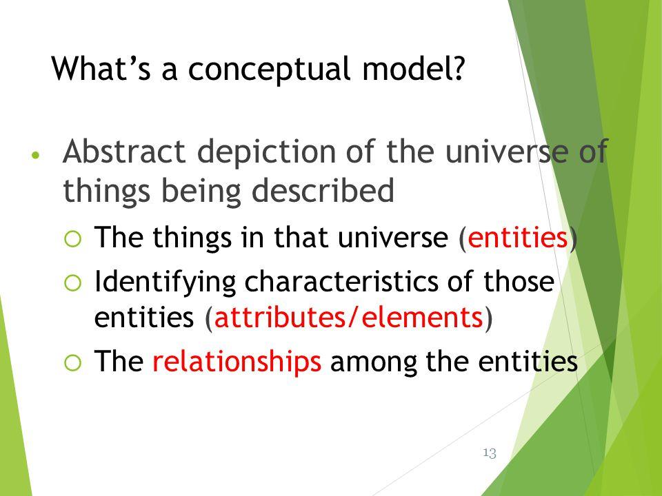 What's a conceptual model