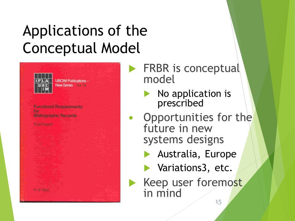 Applications of the Conceptual Model