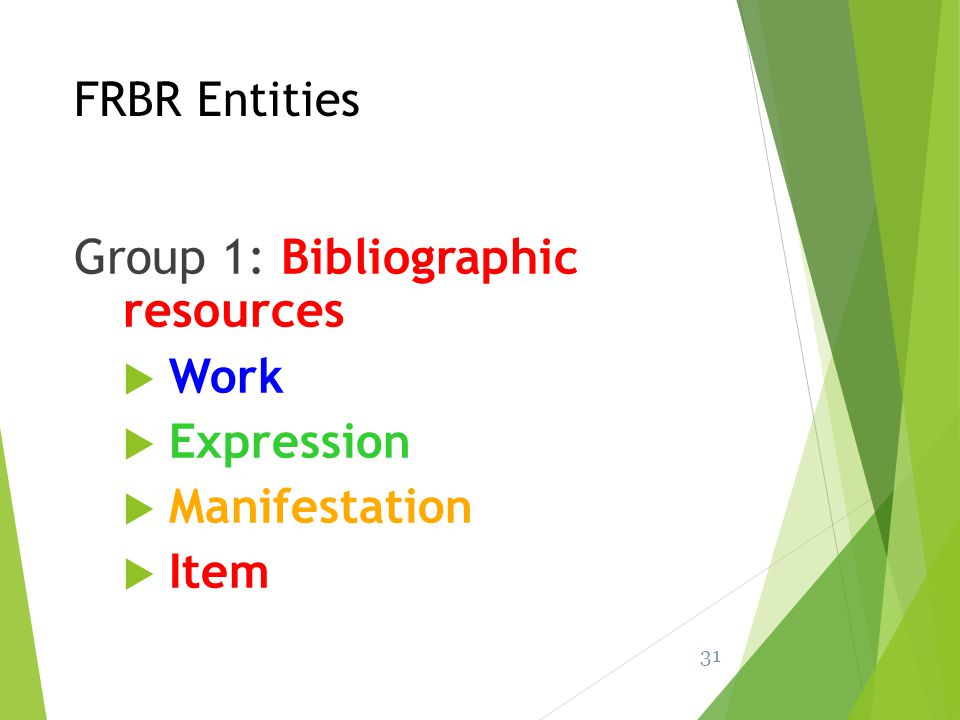 Group 1: Bibliographic resources