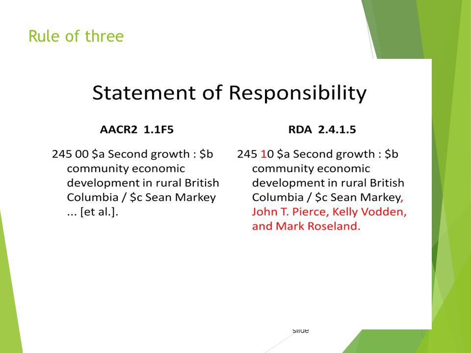 Rule of three Adam Schiff s slide