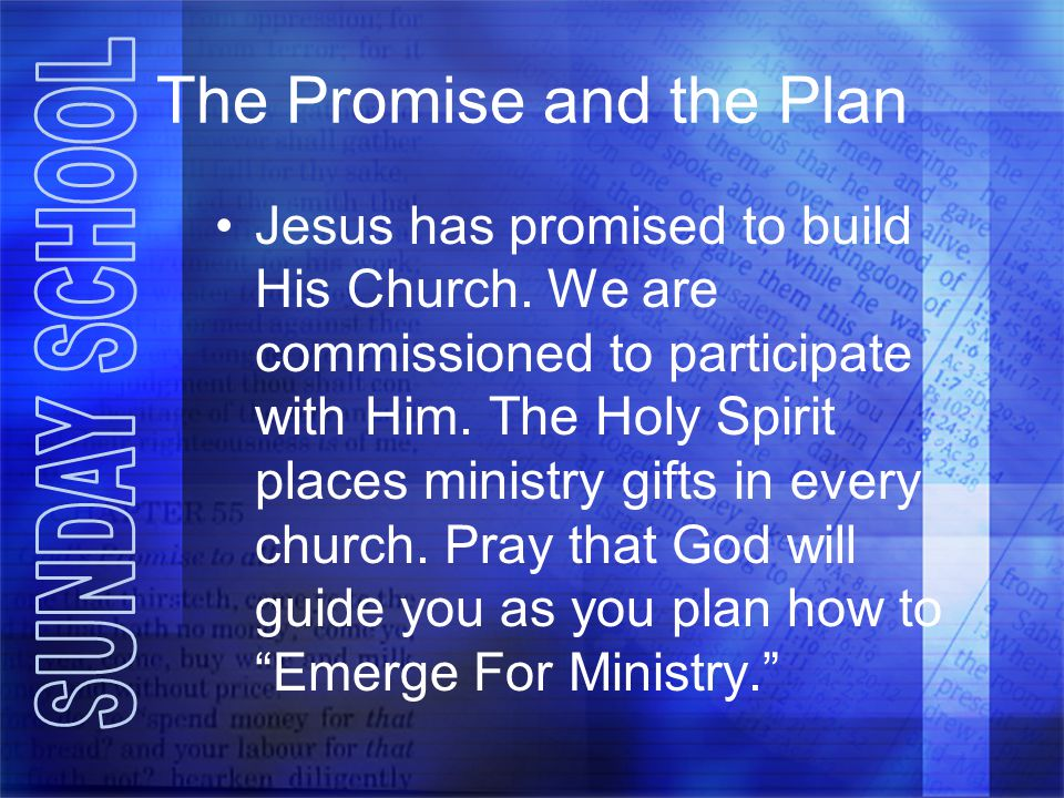 The Promise and the Plan