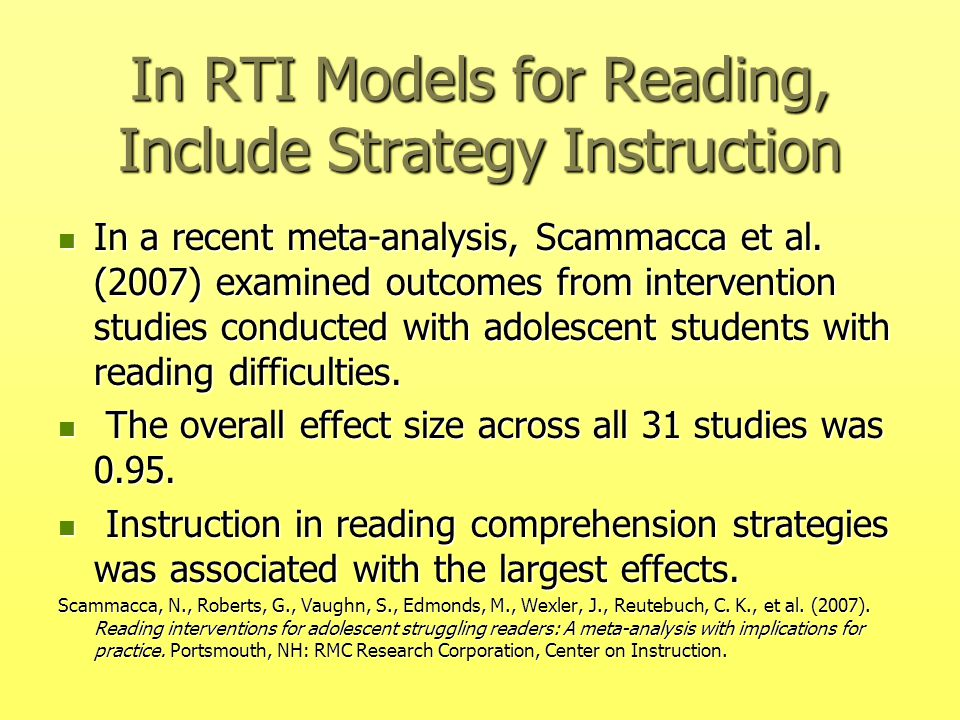 reading research and instruction