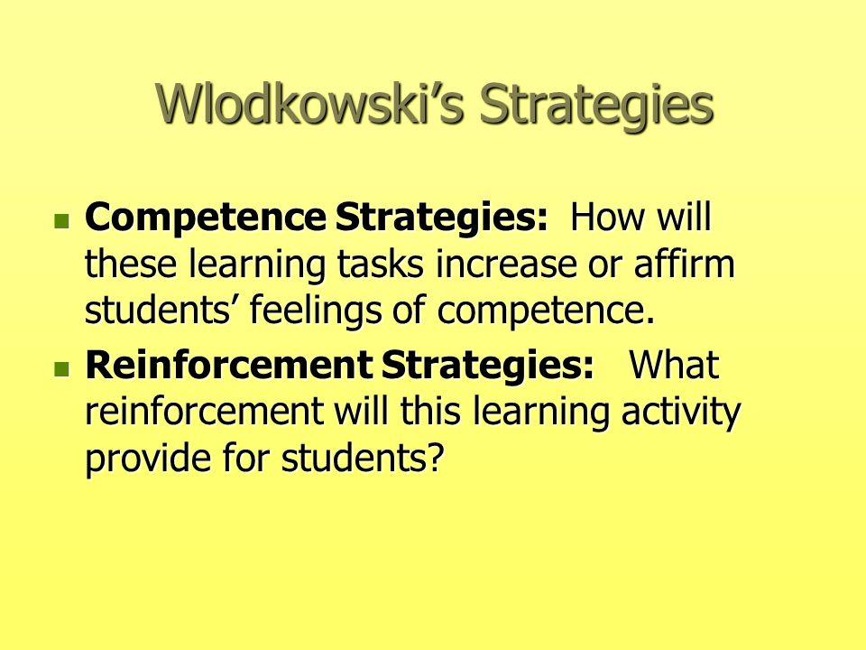 Wlodkowski's Strategies