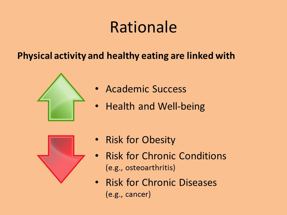 Rationale Academic Success Health and Well-being Risk for Obesity