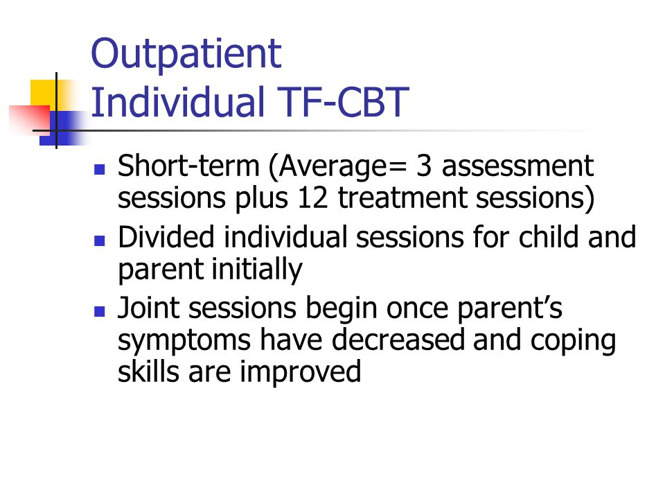 Outpatient Individual TF-CBT