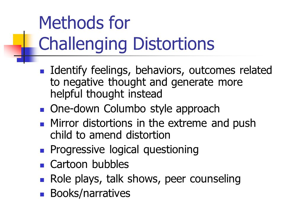 Methods for Challenging Distortions