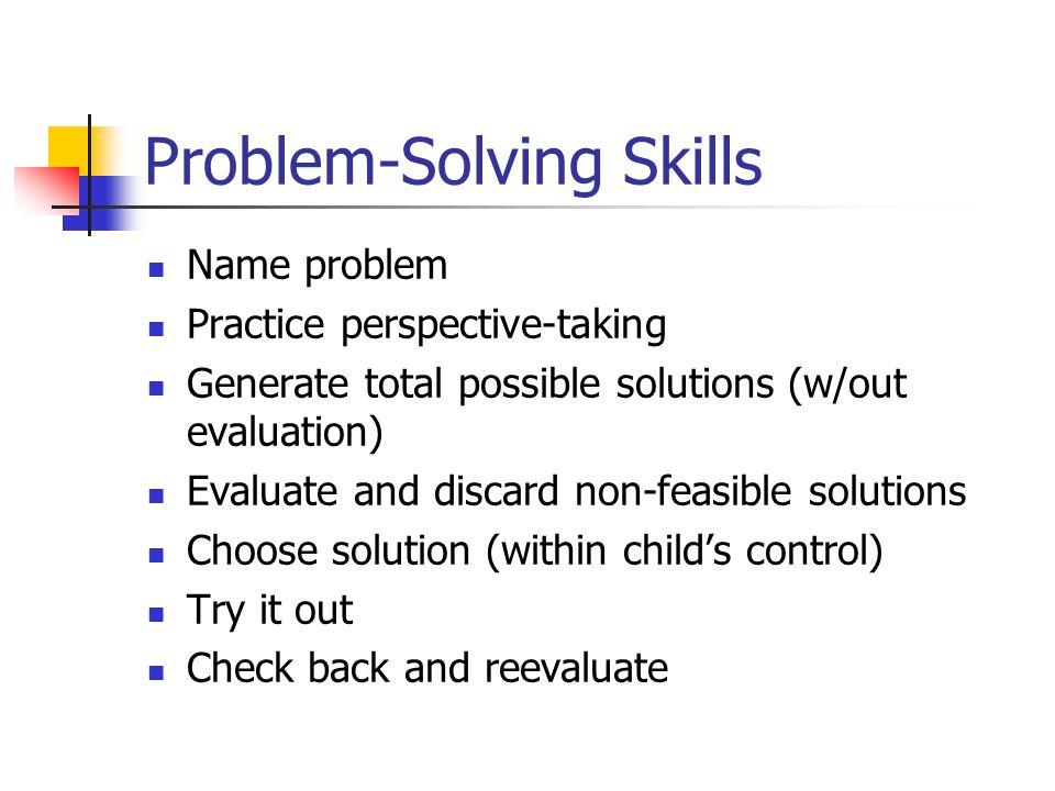 Child Problem Solving