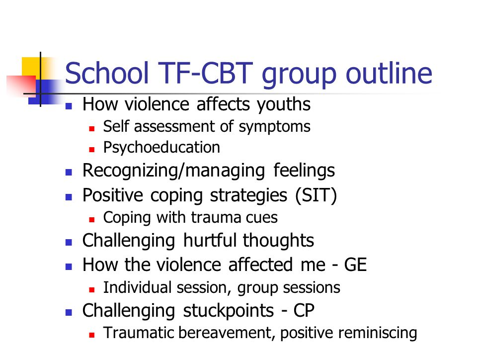 School TF-CBT group outline