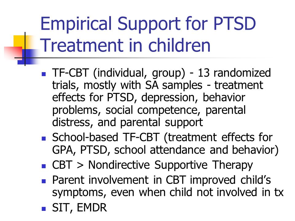 Empirical Support for PTSD Treatment in children