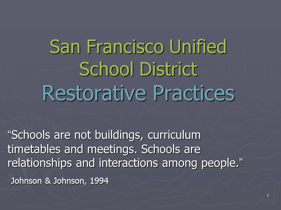 San Francisco Unified School District Restorative Practices