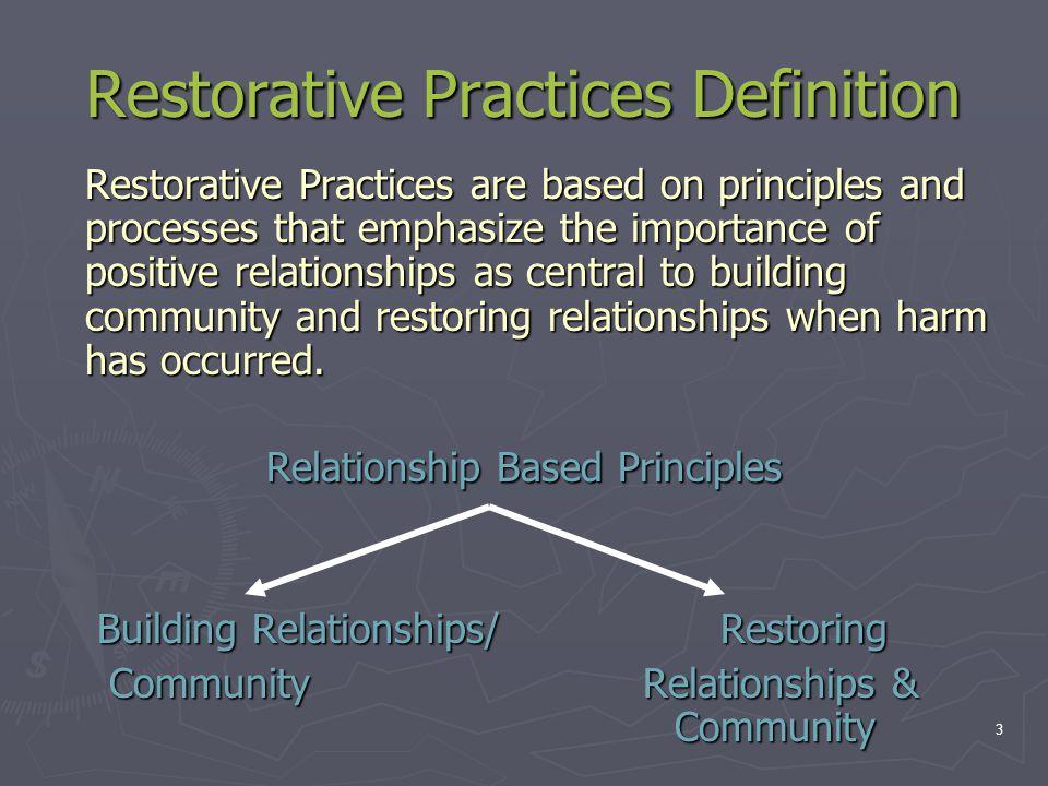 Restorative Practices Definition