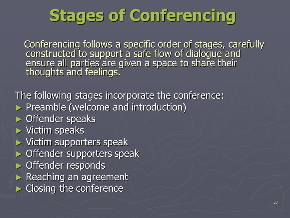 Stages of Conferencing