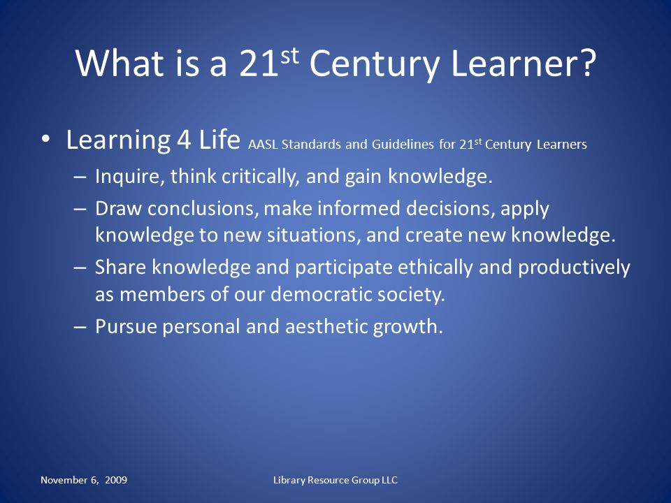 What is a 21st Century Learner
