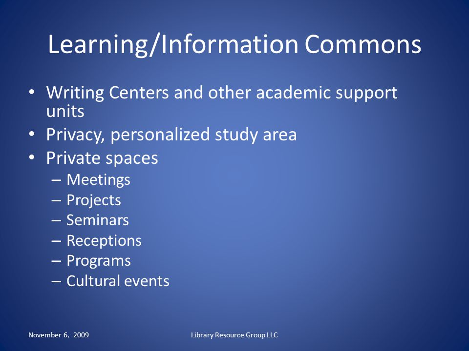Learning/Information Commons