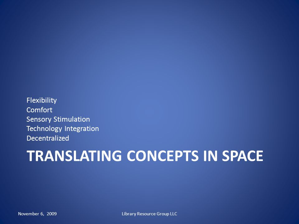 Translating concepts in space
