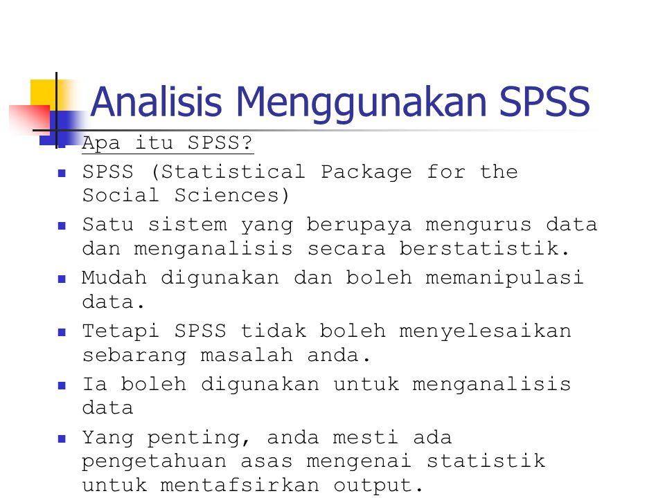 Analisis Menggunakan SPSS