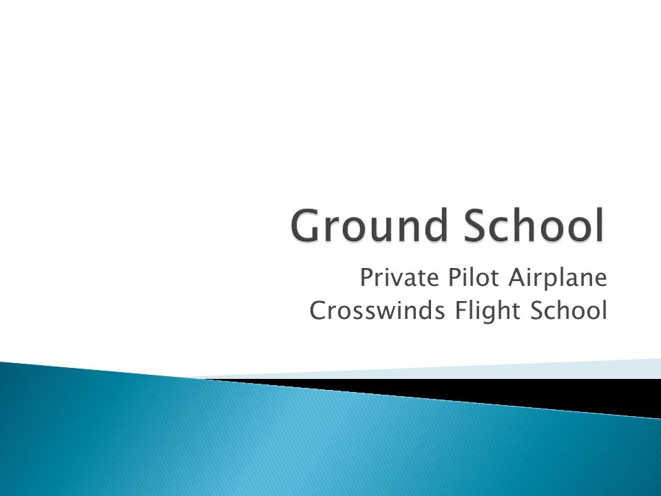 Private Pilot Airplane Crosswinds Flight School