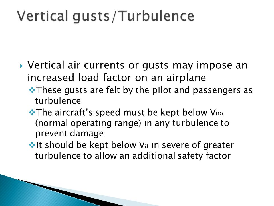 Vertical gusts/Turbulence